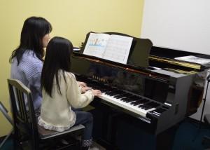 ピアノレッスン風景