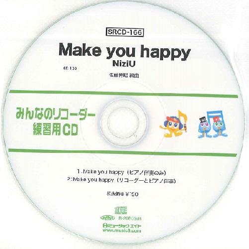 SRCD166 SRみんなのリコーダー・練習用CD-166 Make you happy