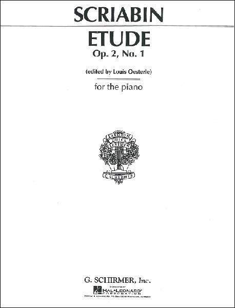 PNC2769 輸入 スクリャービン/練習曲 嬰ハ短調 op.2-1