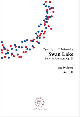 P.I.チャイコフスキー作曲 『白鳥の湖』(全4幕)作品20 ミニチュアスコア(1,2幕/3,4幕セット) ミニチュアスコア(2冊セット)